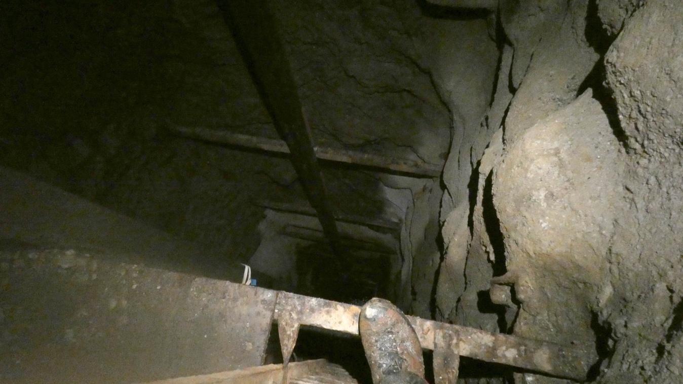 Il pozzo: 35 metri di verticale.